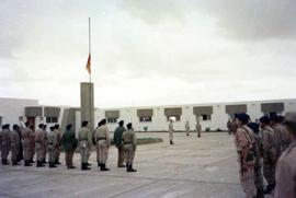 Acto de despedida en la base 'Santiago' de El Aaiún