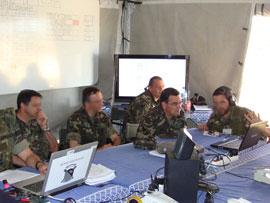 El general Bonal estuvo presente en el ejercicio