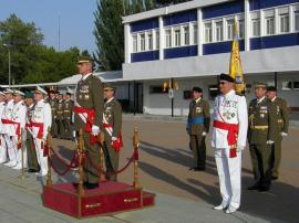 Presidencia del acto en 'General Cavalcanti'