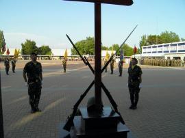 Formación en la sede de la Brigada de Sanidad
