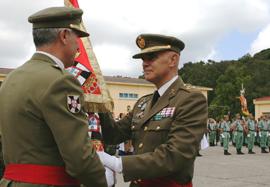 El general Martín-Ambrosio en la toma de posesión