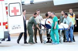 Embarque en una de las ambulancias en Torrejón