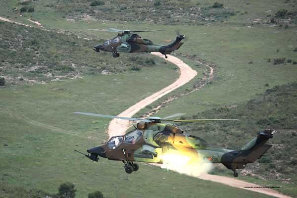 El Tigre dispara sus cohetes en las Bárdenas Reales