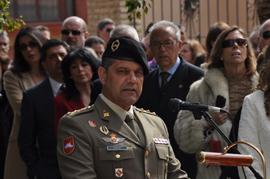 El coronel Sánchez dirigió unas palabras al público