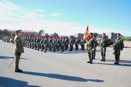 Formación en la base de Marines el 20 de enero