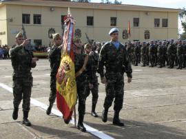 Entrada de la Bandera a la formación el 28 de enero