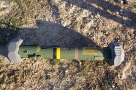 Embalaje del misil (Foto:DISAR)