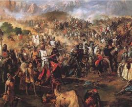 Escena de la Batalla de las Navas de Tolosa