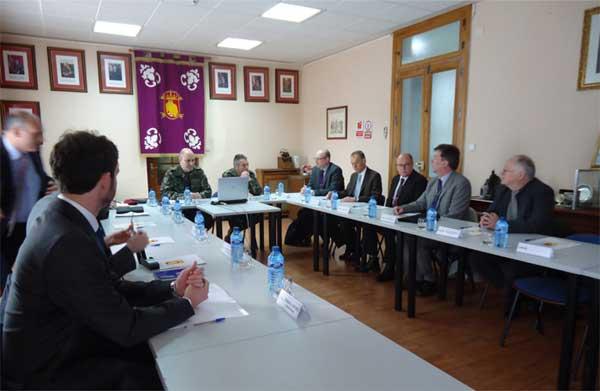 La delegación sueca en el Regimiento nº 31