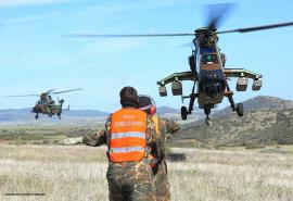 Helicópteros Tigre en el ejercicio