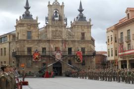 Celebración en la Plaza de España de Astorga