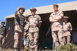 El comandante general presenció el ejercicio