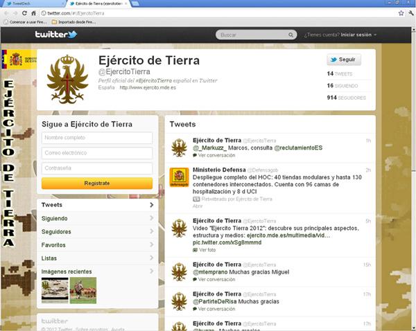 Cada vez hay más seguidores en @EjercitoTierra