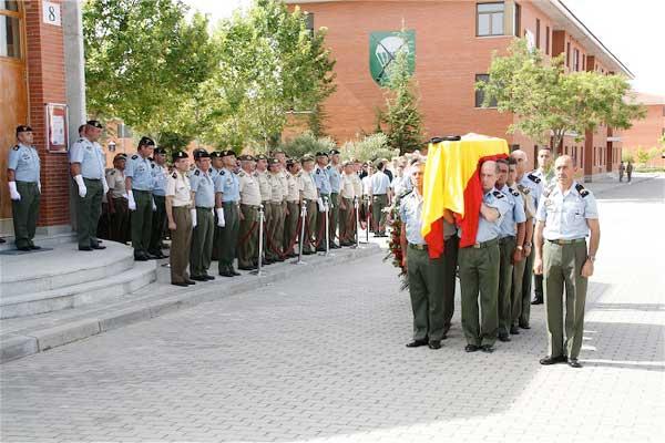 El funeral se ha celebrado en la base 'Príncipe'