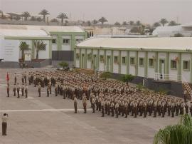 Formación en el acuartelamiento 'Puerto Rosario'