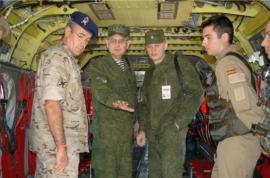 Los militares rusos atendidos por los españoles