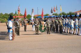 Parada militar en la base de Bótoa el 7 de octubre