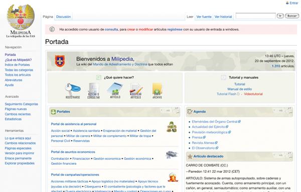 La enciclopedia está disponible en intranet