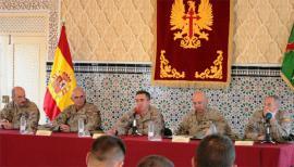 Reunión con los militares destinados en Ceuta