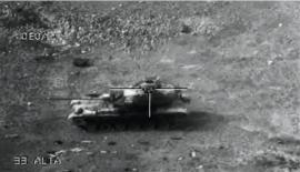 Unos carros de combate M60 hicieron la función de blancos