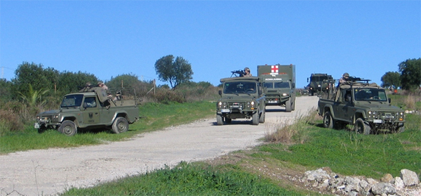 Adiestramiento del GAAA I/74 en San Roque