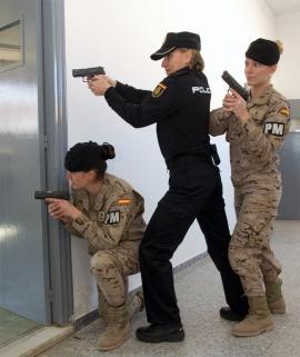 Militares y policias practicaron juntos