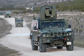 Convoy de vehículos en Chinchilla