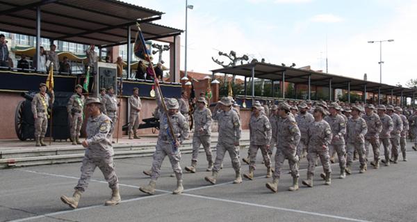 Desfile de la Unidad en base 'Conde de Gazola'