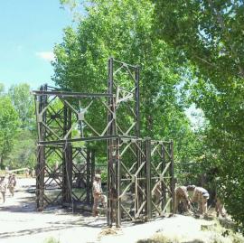 El pilar intermedio alcanzó ocho metros de altura