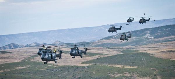 Los helicópteros sobre el CENAD San Gregorio