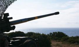 Obús de 155/52mm. en el ejercicio