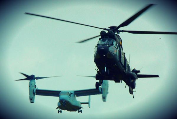 Las dos aeronaves en el aire (Foto:BHELMA IV)