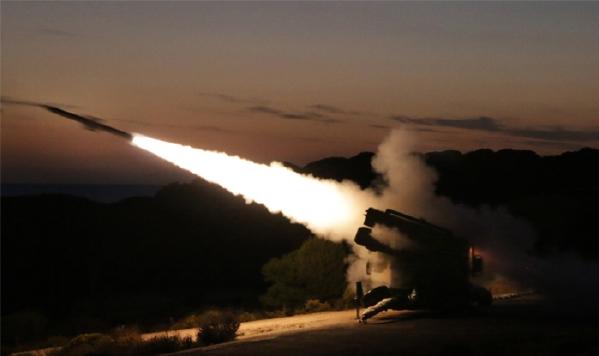 Uno de los lanzamientos de misil