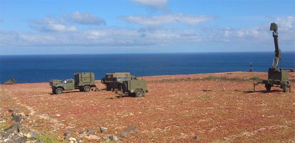 Medios antiaéreos desplegados en el ejercicio