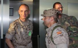 El capitán Egea a su llegada a territorio nacional