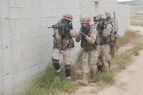 Práctica de combate en ZZUU en Chinchilla