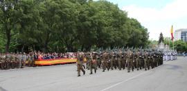 Desfile de la formación en Pamplona