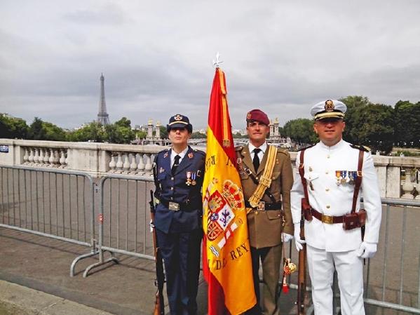 La delegación española participó en el desfile