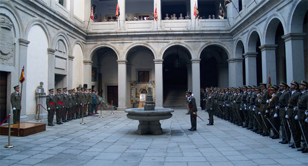 Inauguración en el Patio de Armas del Alcázar