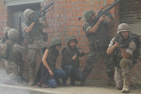 Periodistas empotrados en las Jornadas