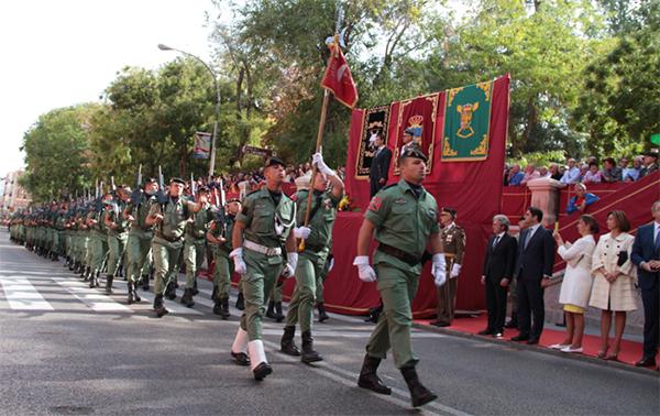 Desfile de la formación en Guadalajara