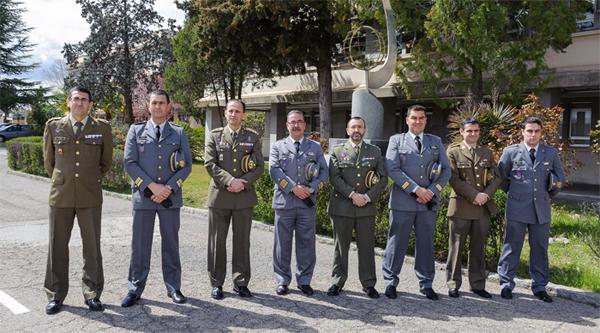 Militares lusos y españoles en Madrid