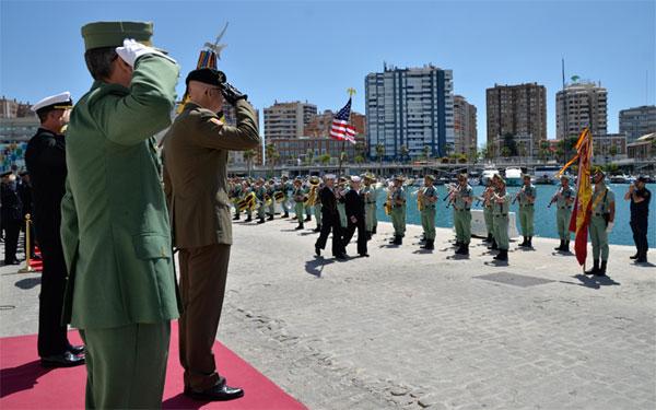 El homenaje se llevó a cabo en el puerto de Málaga