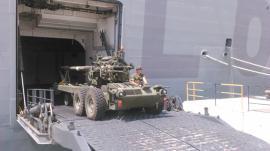 Desembarque de una pieza de artillería
