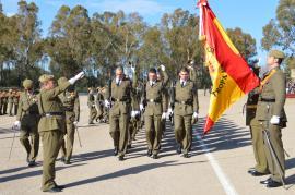 Los alumnos juran Bandera en Cáceres