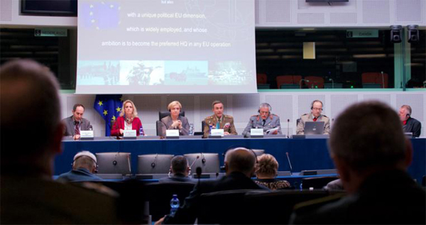 Lieutenant General Ramírez presents a new approach to Eurocorps before the European Parliament
