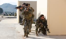 Soldados estadounidenses en el ejercicio