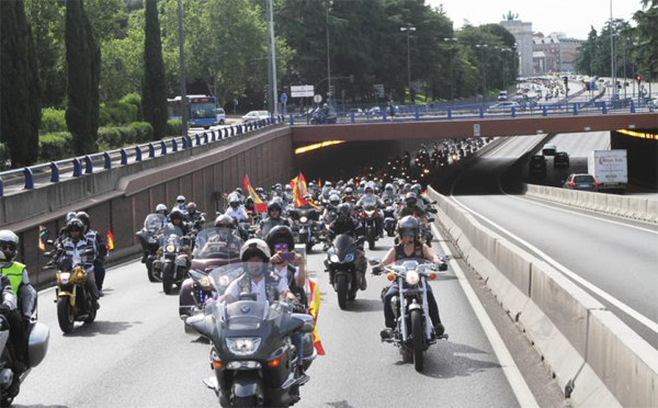 The motorbikes in their way to the base