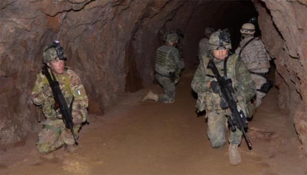 Práctica realizada en un túnel en Alfaque