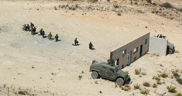 Práctica conjunta de combate en zonas urbanizadas